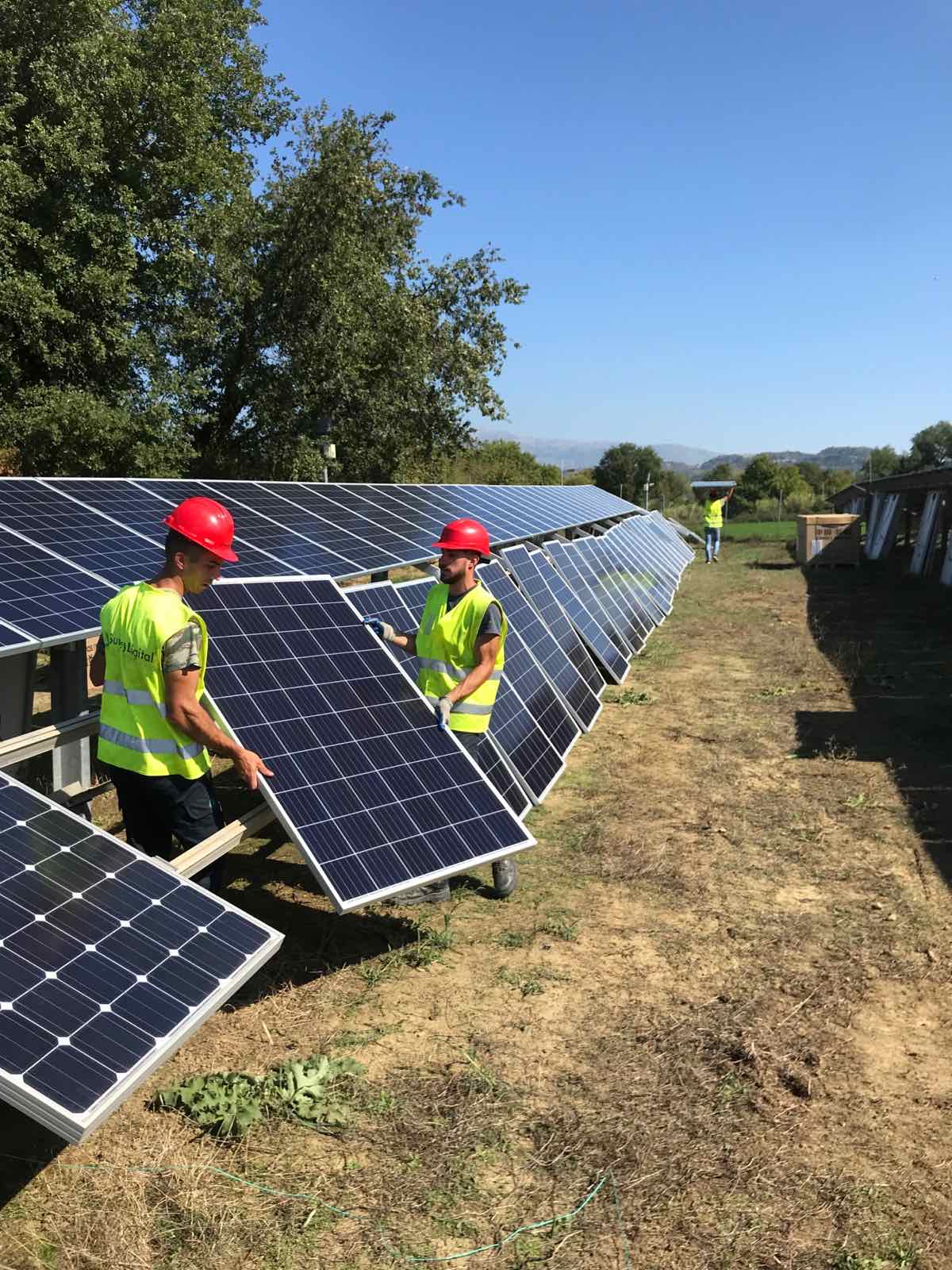 1.3MW photovoltaic panels replacement