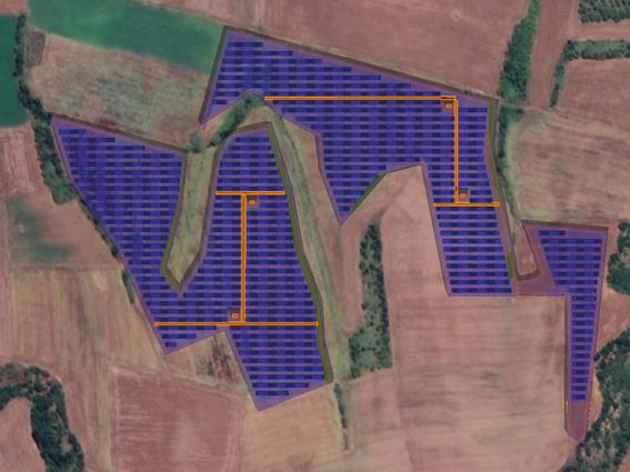 """Φ/Β έργο 8.411,02 kWp, στην περιοχή""""Μαραθούσα"""" Πολύγυρος."""