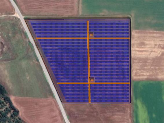 """Φ/Β έργο 5.186,47 kWp, στην περιοχή""""Μαραθούσα"""" Πολύγυρος."""